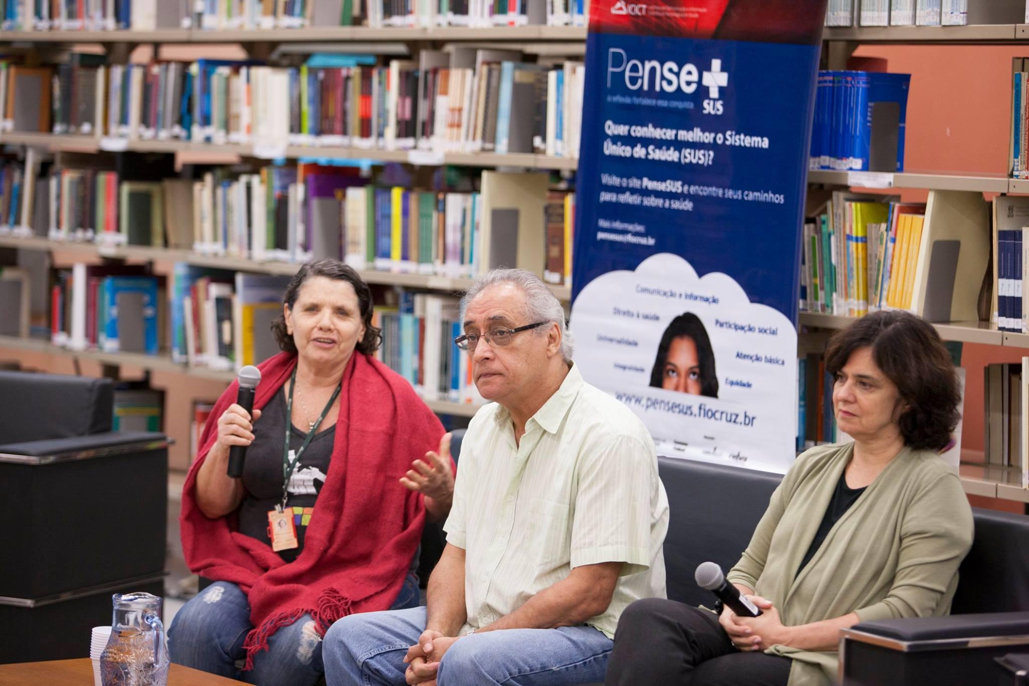 Lúcia Souto, Umberto Trigueiros e Nísia Trindade Lima