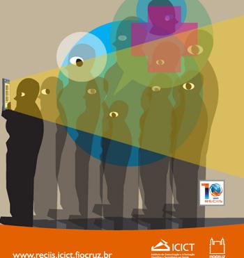 Capa da revista Reciis, com pessoas enfileiradas