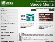 Página inicial da área temática de saúde mental da Biblioteca Virtual de Saúde