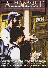 Imagem da capa do Almanaque do Agente Comunitário em Saúde, com a imagem de dois agentes