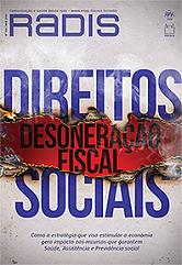 Capa da revista escrito em azul Direitos Sociais, intercalando com Desoneração Fiscal em um fundo vermelho