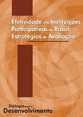 Capa do livro, com nome Efetividade das instituições partipativas no Brasil