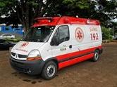 Foto de uma ambulância do SAMU