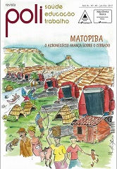 Capa da Revista Poli, ilustrada com imagens de uma região de cerrado, com tratores e representantes de comunidades e povos tradicionais