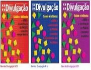 Capa das três edições da publicação Divulgação, com o tema Saúde e Infância