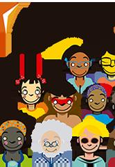 Logo da Abrasco com ilustração do congresso, apresentando diversos rostos