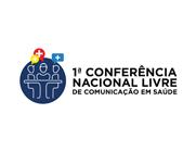 Logo da 1ª Conferência Nacional Livre de Comunicação em Saúde