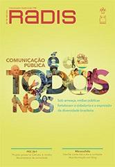 """Capa da revista Radis de novembro/2016, com fundo amarelo e em destaque o texto """"Comunicação pública é de todos"""""""